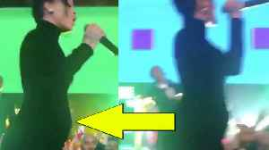 Rihanna REVEALS Baby Bump During Her Diamond Ball Performance! Is She PREGNANT! [Video]