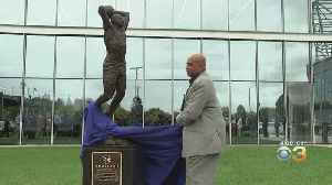 Charles Barkley Sculpture Unveiled At Sixers' Practice Facility In Camden [Video]