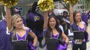 Pep Rally Held Ahead Of Ravens' Home Opener Against Arizona Cardinals [Video]