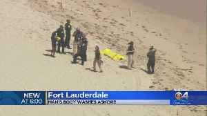 Body Of Man Washes Ashore [Video]