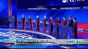 Ten candidates hit the debate stage [Video]