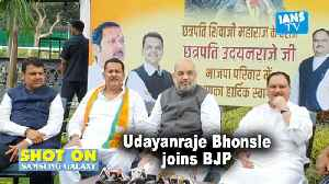 Udayanraje Bhonsale joins BJP [Video]