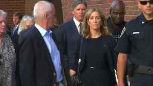 Huffman leaves court, gets 14 days behind bars [Video]