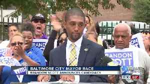 Baltimore City Council President Brandon Scott announces run for Mayor [Video]
