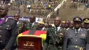 Funeral procession honours Robert Mugabe [Video]