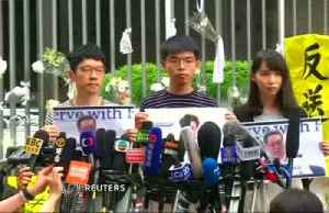 News video: Hong Kong democracy activist seeks US support