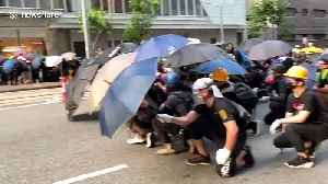 Hong Kong protesters advance on police lines in Wan Chai [Video]