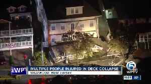 At least 22 people injured in deck collapse at New Jersey beach house [Video]