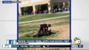Video shows Marine tackling fighting students to the ground [Video]