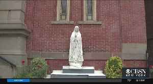 Virgin Mary Statue Defaced In Jersey City [Video]