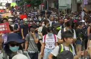 News video: Hong Kong protesters march and sing in plea to Britain