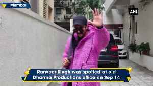 Ranveer Singh, Alia Bhatt spotted outside Dharma Productions office in Mumbai [Video]