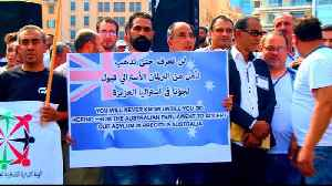 Palestinian refugees protest to demand asylum in Lebanon [Video]