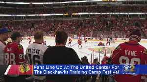 Fans Hit United Center For Blackhawks Festival [Video]