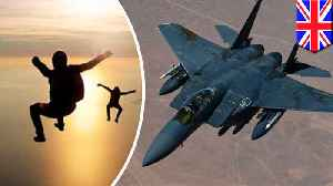 British skydivers almost struck by fighter jets traveling at 350mph [Video]