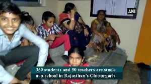 Students teachers stuck at school in Chittorgarh after water discharged from dam [Video]
