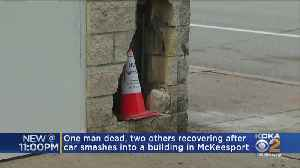 One Dead After Driver Smashes Into Building [Video]