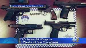 News video: Police Seize 84 Guns In Weekend Crackdown