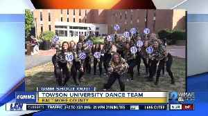 News video: Good morning from Towson University's Dance Team!