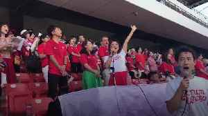 15,000 Japanese fans sing Welsh national anthem at training session [Video]