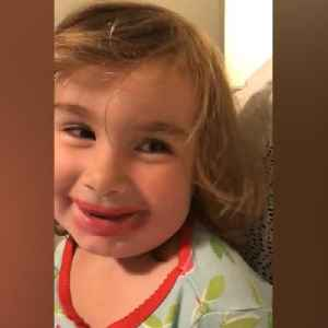This little girl got into her mom's lipstick and the result was hilarious [Video]