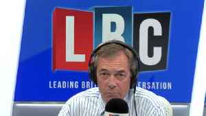 Nigel Farage Argues With Caller Who Says Boris Johnson 'Stormed Off In A Huff' [Video]