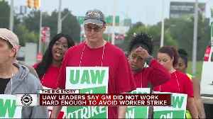 UAW says strike could have been avoided, claims GM's last-minute contract proposal came a