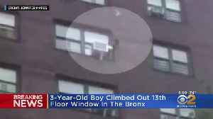 3-Year-Old Boy Climbed Out 13th Floor Window In The Bronx [Video]