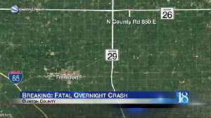One dead in State Road 26 crash [Video]