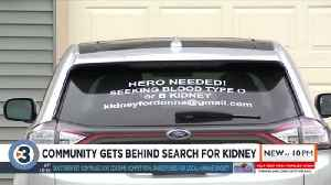 Community gets behind search for kidney [Video]