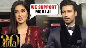 Katrina Kaif & Vicky Kaushal REACTS On PM Narendra Modi's NO PLASTIC Initiative   IIFA ROCKS 2019 [Video]