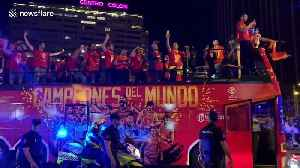 Spanish basketball team celebrate with fans in Madrid after becoming world champions [Video]