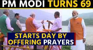 PM Modi turns 69, starts his day by offering prayers at Narmada River in Gujarat | OneIndia News [Video]
