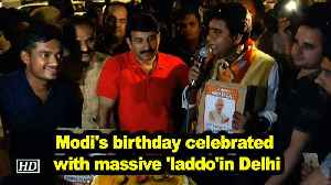 Modi's birthday celebrated with massive 'laddo'in Delhi [Video]