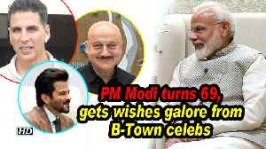 PM Modi turns 69, gets wishes galore from B-Town celebs [Video]