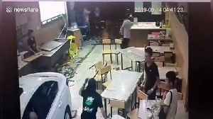 Alleged drunk driver smashes car through restaurant in China's Longyan [Video]