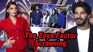 The Zoya Factor screening   Former cricketers Ajit Agarkar, Zaheer Khan attend [Video]