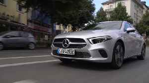 Mercedes-Benz A 250 e Sedan in iridium silver Driving Video [Video]