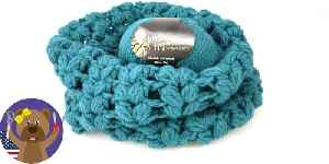 Crochet Puff Stitch Loop – Scarf for beginners and intermediates – Star Pattern [Video]