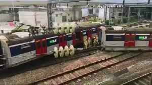 News video: Train derailment in Hong Kong causes commuter chaos