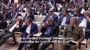News video: Rouhani, Zarif chuckle at Putin's offer to help Saudi Arabia