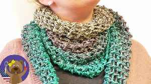 Spring Crochet Project | Triangle Scarf | Bobbel Cotton Xtra from Woolly Hugs [Video]