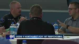 Crisis line for first responders discussed as mental health resource at local conference [Video]
