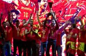 Spain celebrates World Cup basketball victory [Video]