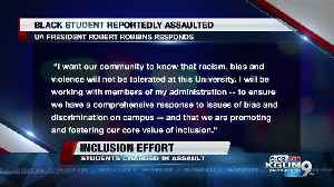 UA and students working to cope with assault on black student [Video]