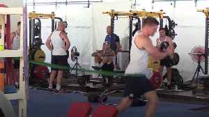News video: England train ahead of the Rugby World Cup