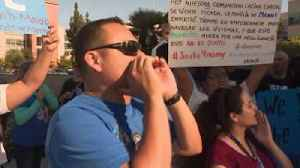 Demonstrators March in Honor of CA High School Student with Special Needs Killed in Golf Cart Accident [Video]