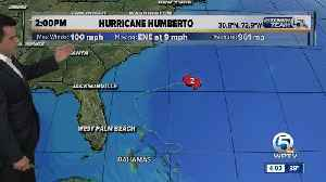 News video: Humberto 2 p.m. Tuesday update