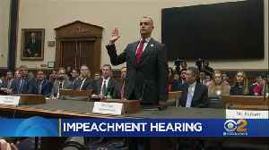 White House Blocks Witnesses From Testifying In Impeachment Hearing [Video]