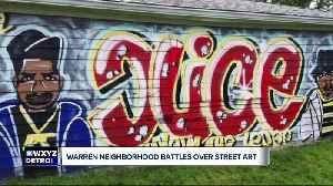 Graffiti art or blight? Warren homeowner fined for 'art' on home [Video]